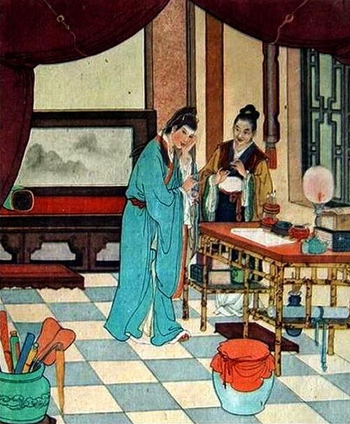 Zhu Yingtai asks teacher's wife to reveal her true identity to Liang Shanbo