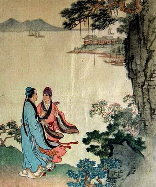 Zhu Yingtai makes a proposal for her sister to Liang Shanbo