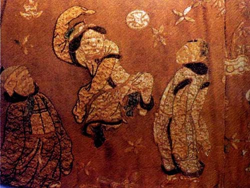 Ancient Chinese kids playing soccer