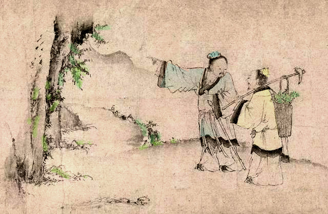 two medicinal herb collectors entered Mt. Tiantai
