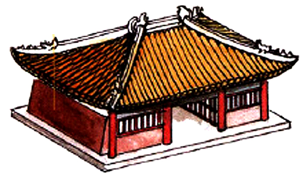 Traditional Chinese gable roof