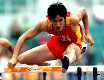 Liu Xiang, the first Chinese to win Olympic Gold medal and World Championship on men's track and field events