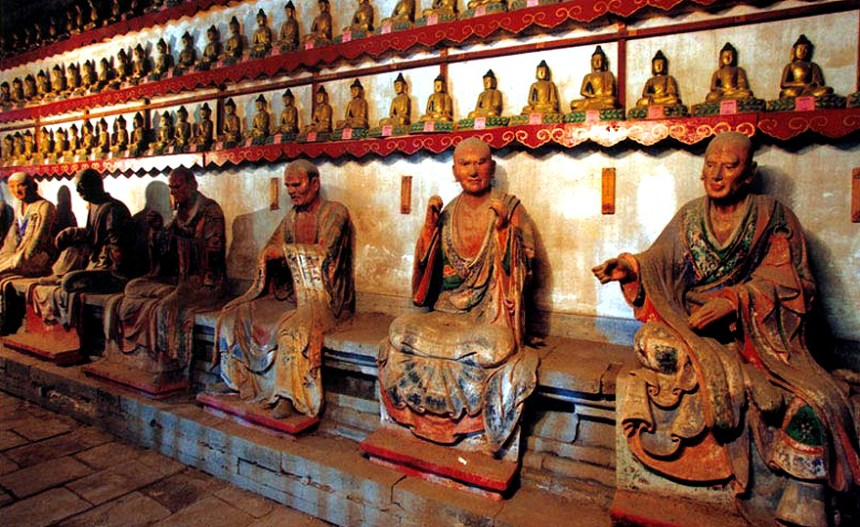 1,000-year-old Arhat statues