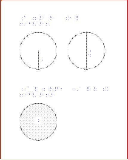 Quick links to immediately printable braille examples by