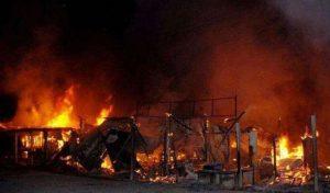 Electric fire burns house, kills pregnant woman, 2 kids