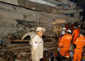 Death toll rises to 36 in Cambodia building collapse