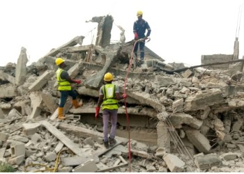 BREAKING: Lagos records first building collapse incident in 2020