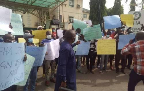 FHA contractors protest over N1.5bn debt, illegal VAT deduction