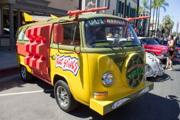 The Party Wagon from the Teenage Mutant Ninja Turtles was popular among the adults and the kids.(Luis Solis|Asst. Photo Editor)