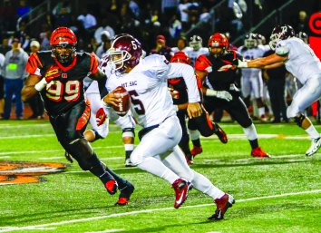 PAYBACK: Mt. SAC quarterback Justin Alo did not throw an interception against the RCC defense in the SCFA title game, after throwing four in the regular season meeting on Oct. 25. (Luis Solis   Photo Editor)