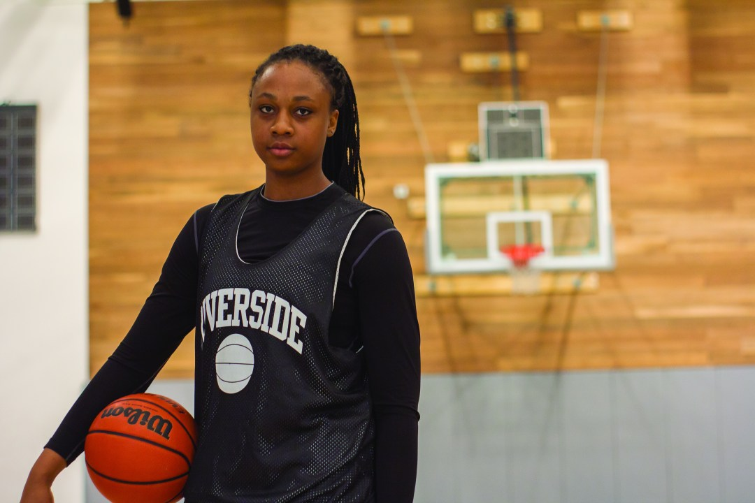 Riverside City College women's basketball center forward. Photo taken by Steven Smith of Viewpoints.
