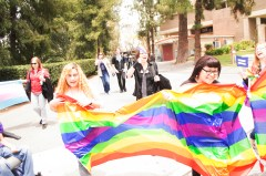 Gender and Sexualities Alliance member rallies against discrimination on May 26. Victor Duran | Viewpoints