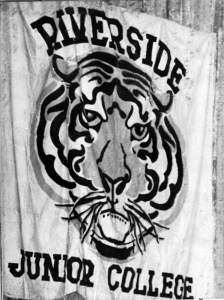 Banner from 1948 showcasing Riverside City College's previous name, Riverside Junior College.
