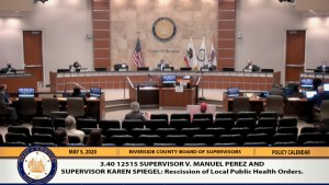 UPDATED: Riverside County Board of Supervisors votes to lift public health orders