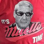 "Shirt with Mueller in sunglasses and message ""its Mueller Time"""