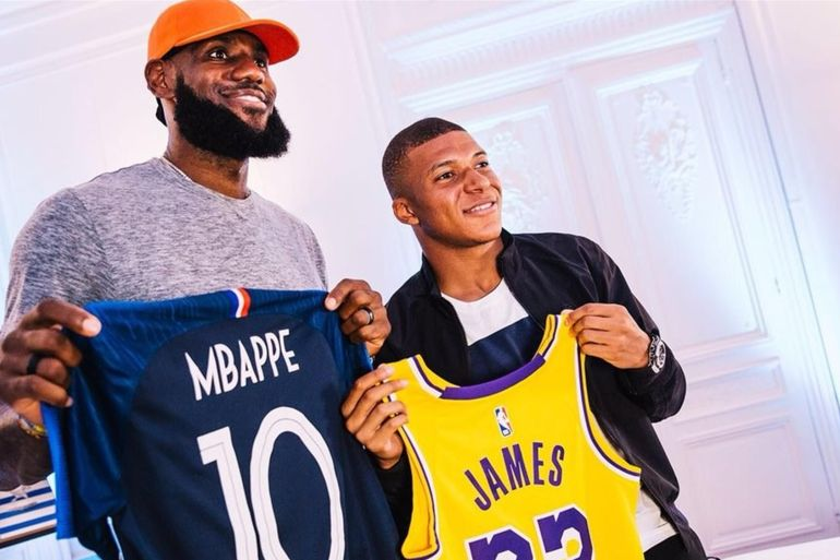 kylian mbappé lebron james nike collection collaboration