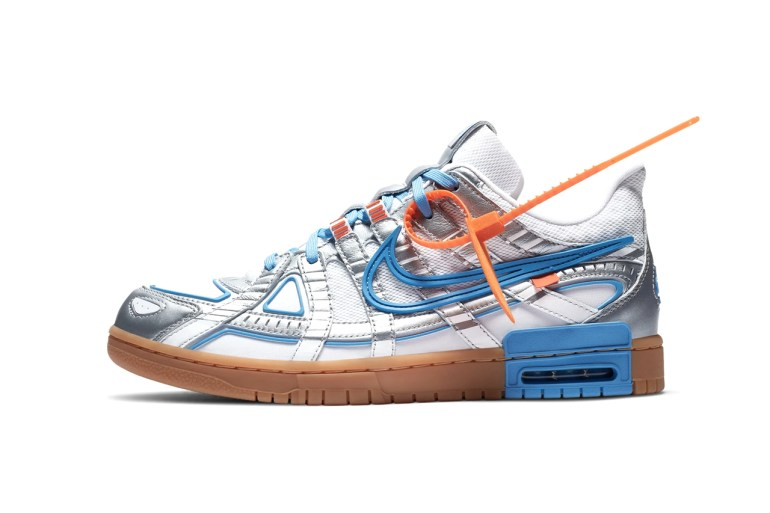 "Off-White x Nike Rubber Dunk ""University Blue"" sneaker virgil abloh images officielles"