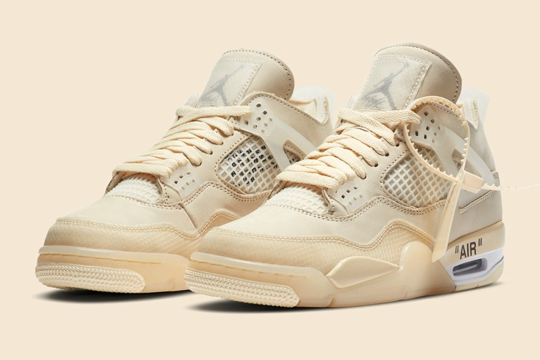 air jordan 4 off-white sneakers stockx resell