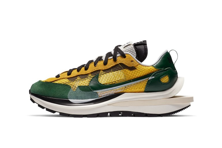 nike sacai sneakers vaporwaffle tour yellow