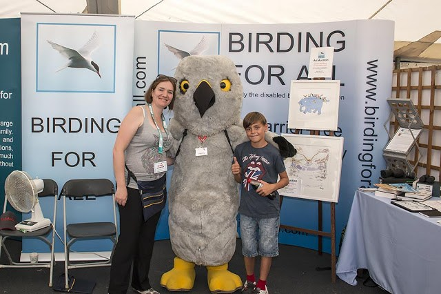 Zoe and Toby meeting Henry Hen Harrier (not a patron)