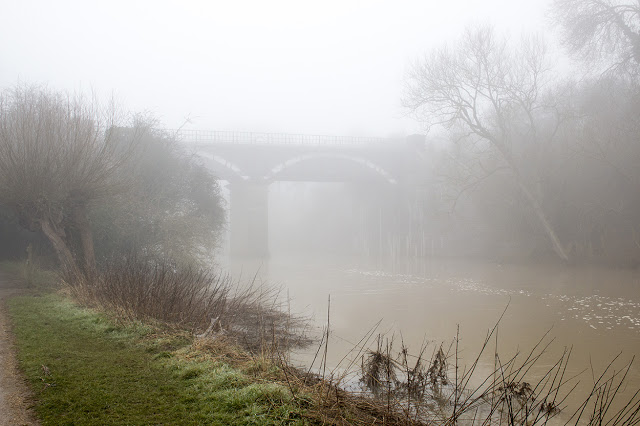 Iron Trunk Aqueduct, shrouded in mist