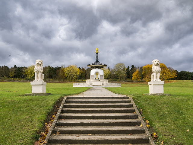 Another of the Peace Pagoda at Willen with Rain Clouds