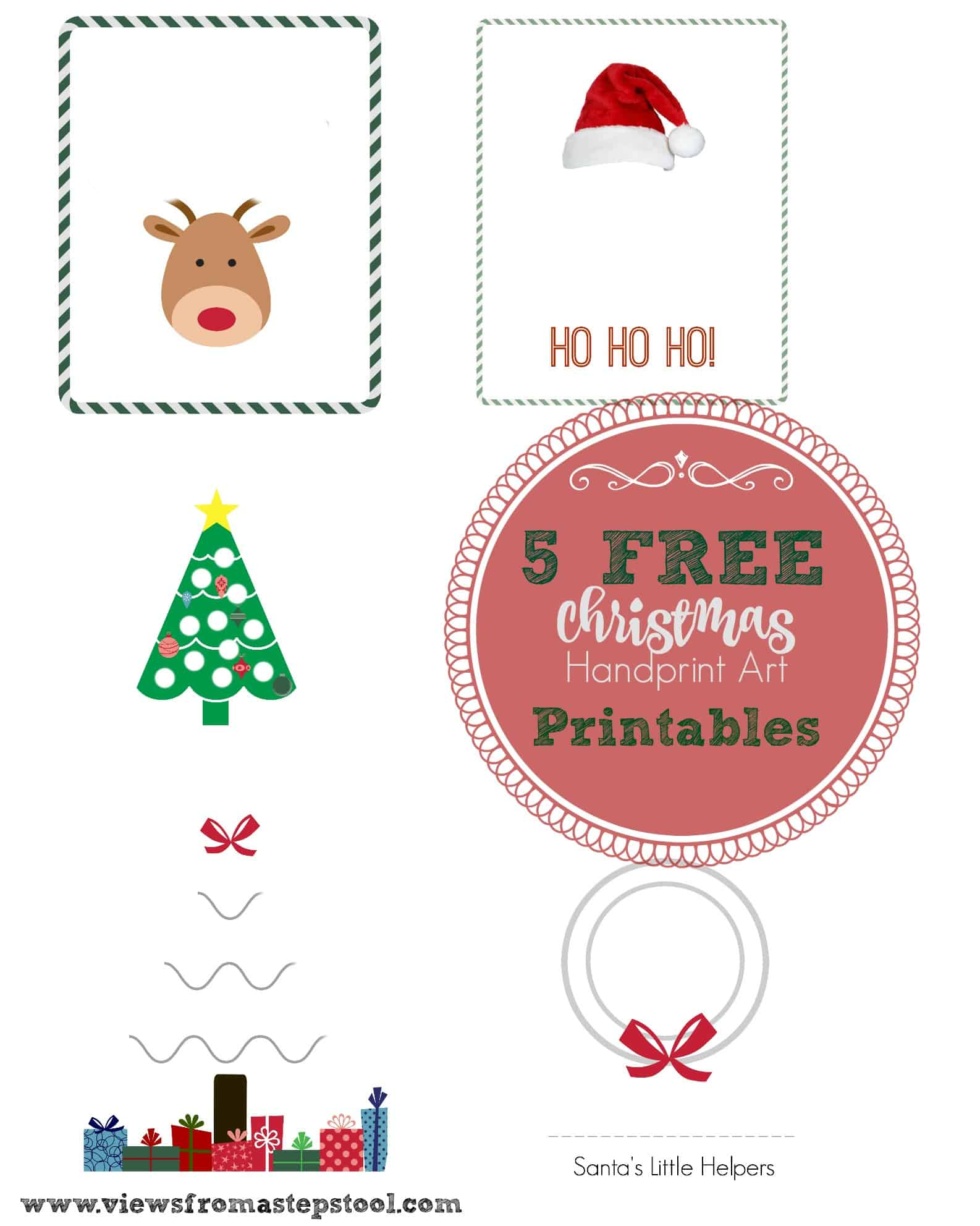 5 Christmas Handprint Art Templates For Ting Decor Or Fun