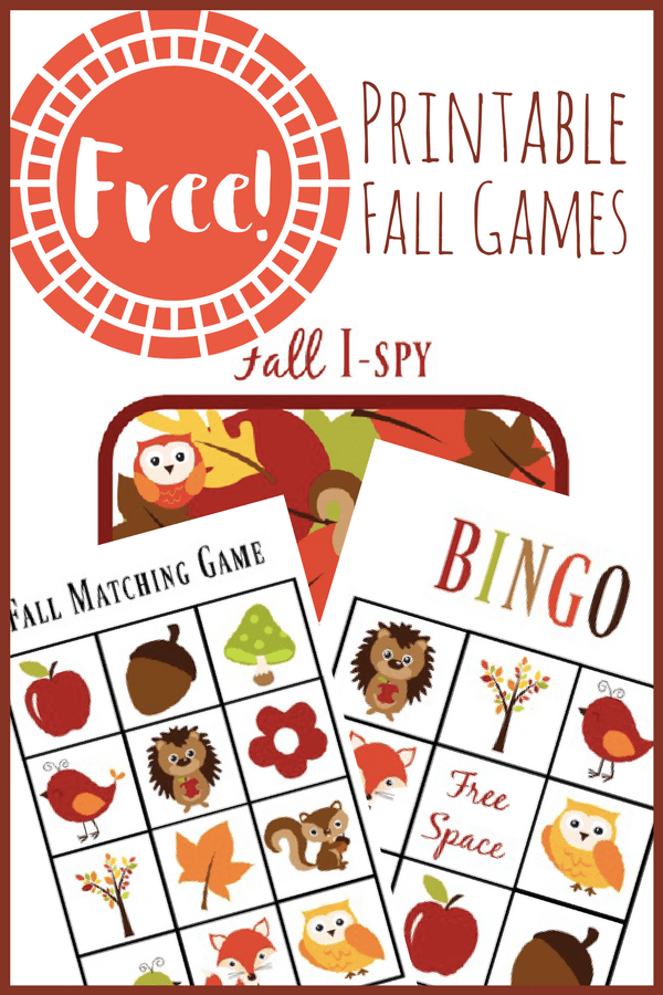 Printable Fall Games for Toddlers - Views From a Step Stool