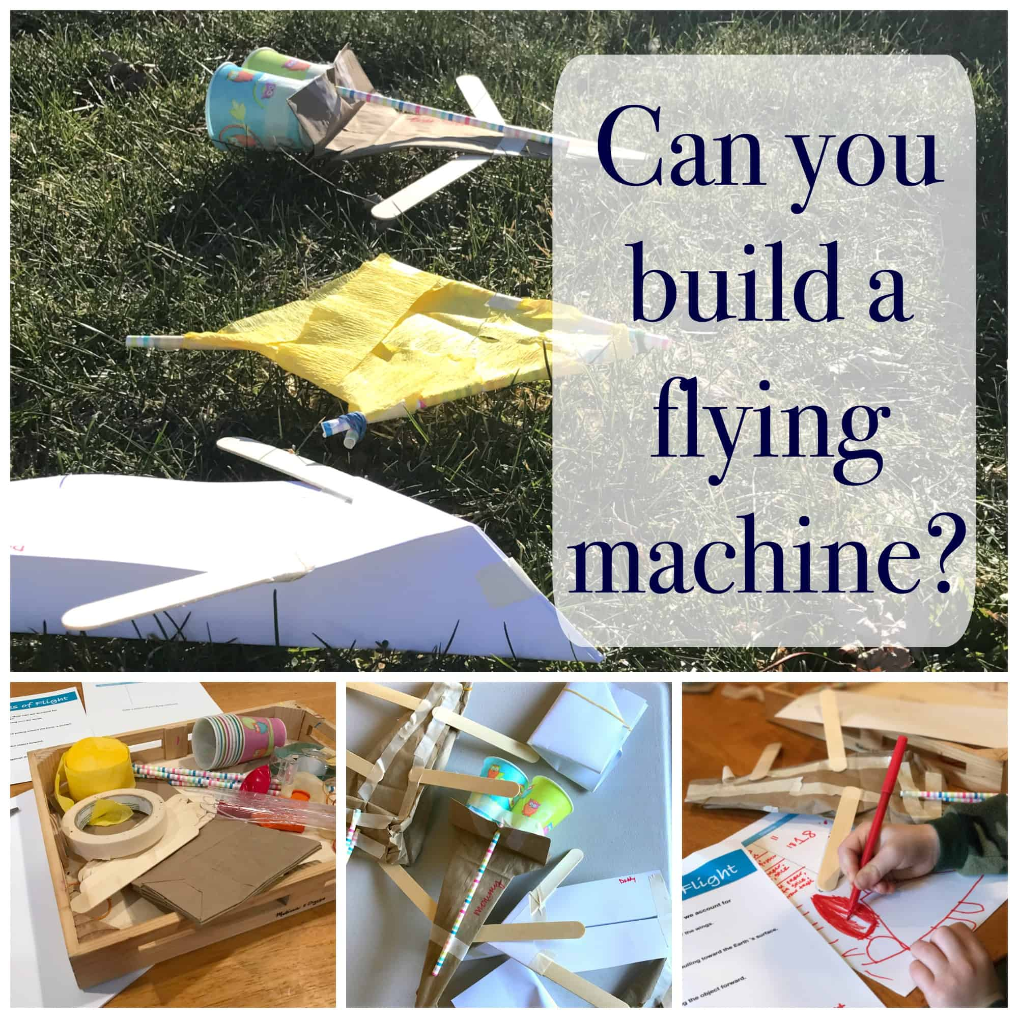 Create A Flying Machine Stem Challenge For Kids