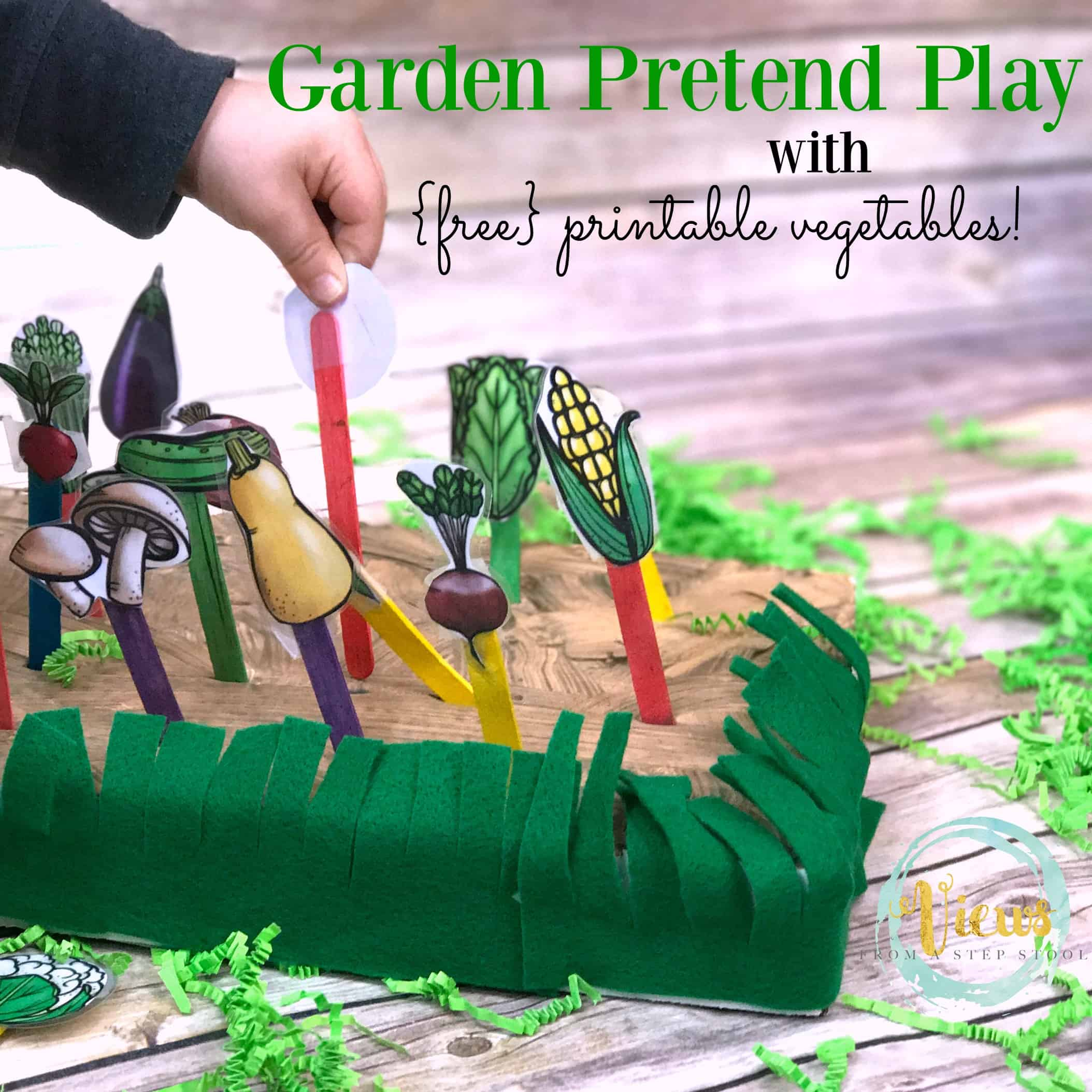 Garden Pretend Play Fine Motor Activity With Free