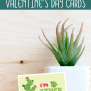 Printable Cactus Valentines Day Cards Views From A Step