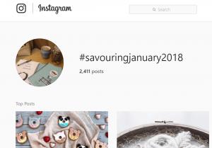 #SavouringJanuary Instagram tag