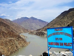 The site of $7 billion Bhasha dam in northern Pakistan. (Photo by Muhammad Hasnain, Creative Commons License)