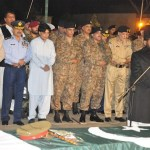 Funeral prayer of  Maj Gen Sanaullah Khan is being held in rawalpindi on September 15. General Sanaullah was the second general of Pakistan Army to have lost his life in the war against Taliban. (Photo via Inter Services Public Relations, pakistan)