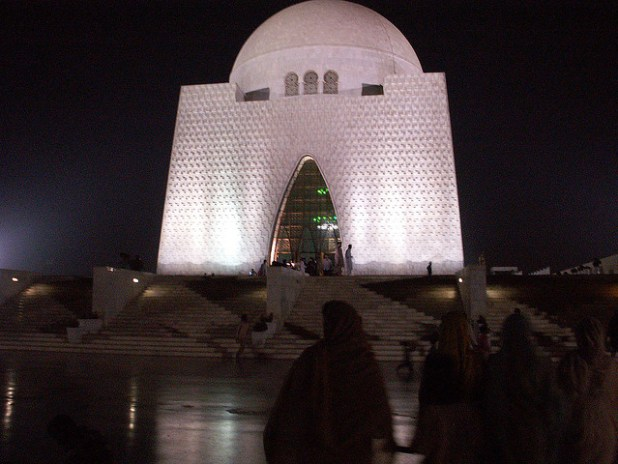 Mausoleum of Pakistan's founder Mohammad Ali Jinnah in Karachi. The city is home to much of Pakistan's industry and generates 71 percent of Pakistan's tax revenue. (Photo by by Kasuga Sho, Creative Commons License)