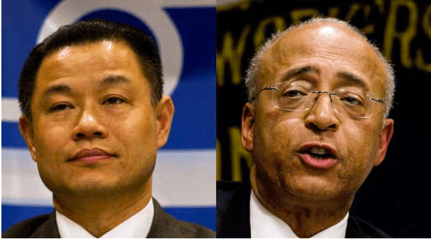 John Liu and Bill Thompson won six and five endorsements respectively from the ethnic and community media. (Photos by Brock Stoneham via Voices of NY)