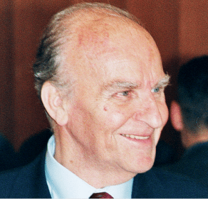 Bosnia's first democratically elected president, Alija Izetbegović.