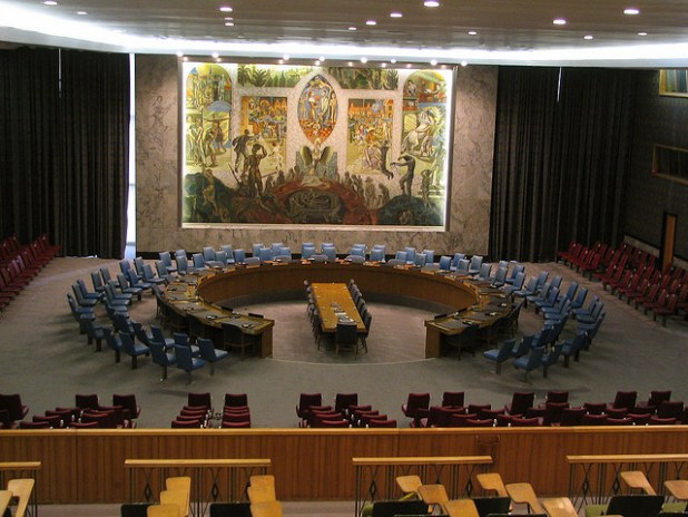 A view of UN Security Council's meeting room. (Photo by François Proulx, Creative Commons License)