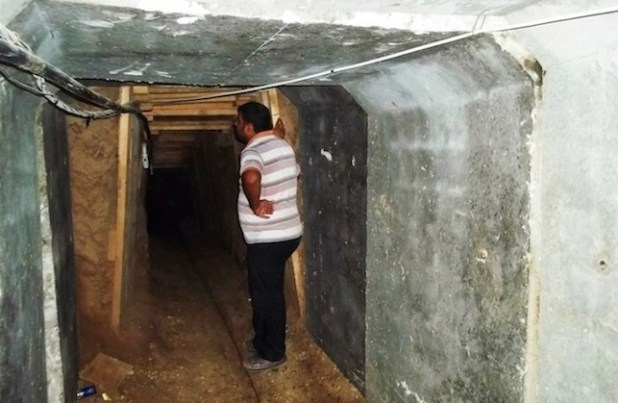 Once a busy tunnel from Gaza to Egypt is now out of business. (Photo by Ahmed Dalloul/IRIN)