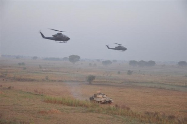 A view of Pakistan Army's just concluded military exercise Azam-e-Nau. (Photo via ISPR)