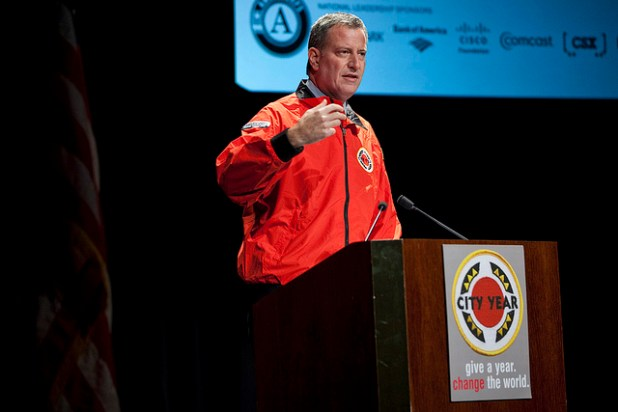 Bill de Blasio, the Mayor-elect of New York City. (Photo by cityyear, Creative Commons License)
