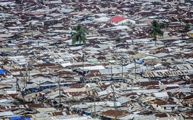 West Point slum, near central Monrovia in West African country of Liberia. (Photo by Tommy Trenchard/IRIN)