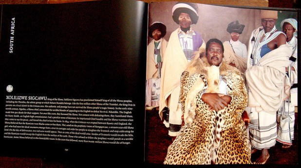 King of the Xhosa, Xolilizwe Sigcawu has proclaimed king of all the Xhosa peoples, including the Thembu, the ethnic group to which Nelson Mandela belongs. Like the four million other Xhosa of the Transkei, the king lives in poverty on a kraal (farm) in the Umtata area. His authority and prestige have not survived the Xhosa people's tragic history. (Photo by son.delorian, Creative Commons License