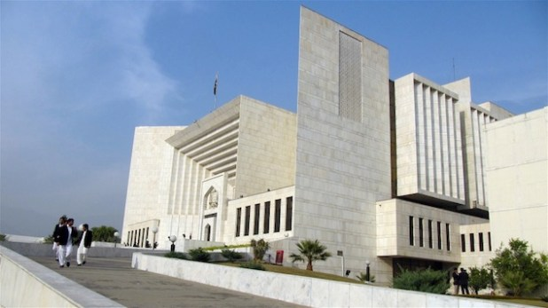 Pakistan's supreme court building. The Supreme Court building in Islamabad. (Photo by Umar Farooq via IRIN)