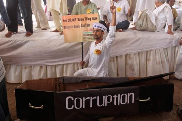 Anti-corruption protest in 2011. (Wikimedia Commons/Pranav21391)
