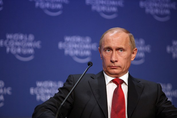 Vladimir Putin at the World Economic Forum. (Photo by World Economic Forum, Creative Commons License)
