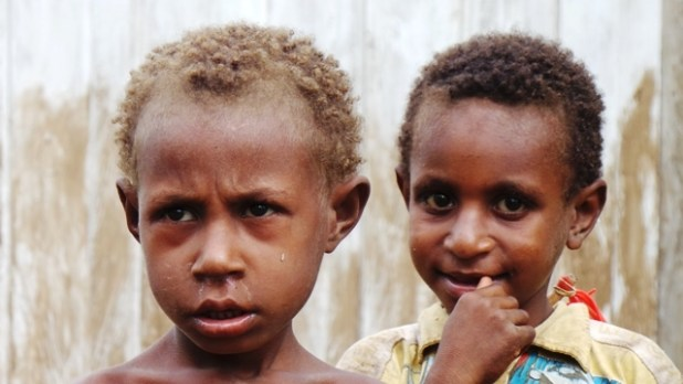Young indigenous Malind children from Zanegi village, Merauke, Papua, Indonesia. (Courtesy of the Forest Peoples Program)