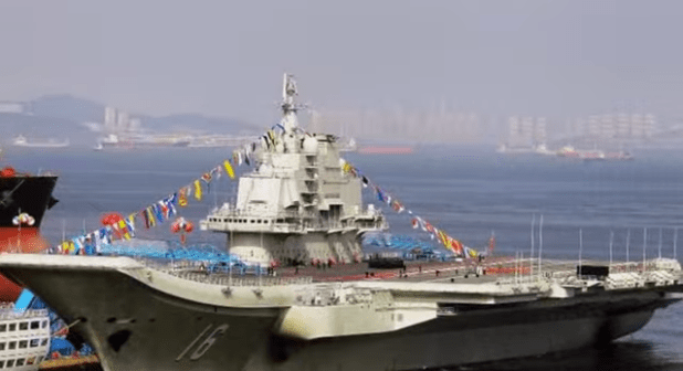 Chinese aircraft carrier. China is building its second aircraft carrier. (Photo via ZAK Breaking News video)