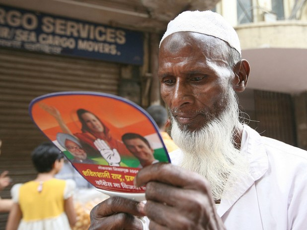An Indian Muslim voter. (Photo by Nadia Chaudhury, Creative Commons License)