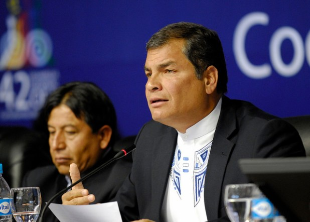 President Rafael Correa. (Photo by OEA - OAS, Creative Commons License)
